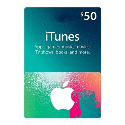 iTunes Gift Card $50 (US Region) Email Delivery